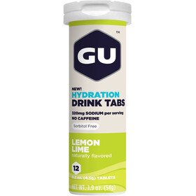 GU Energy Hydration Drink Tabs 12 pièces, Lemon Lime
